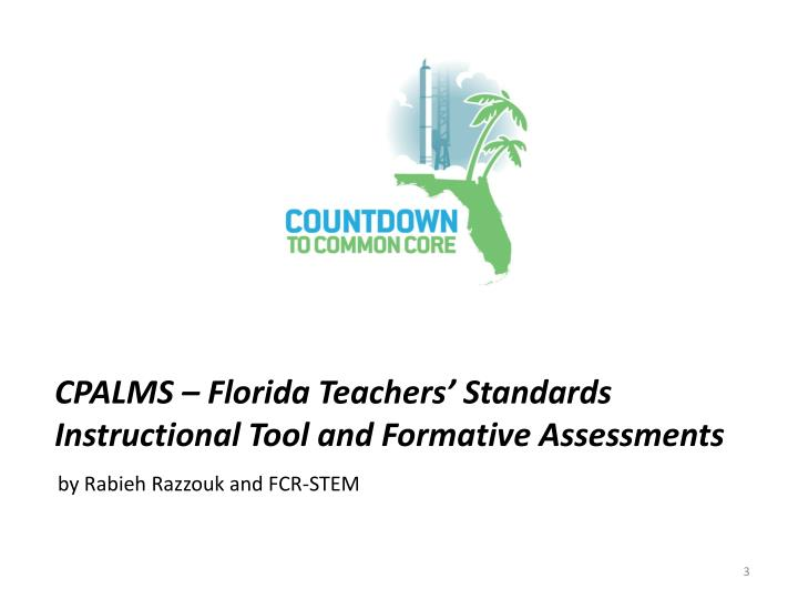 Cpalms florida teachers standards instructional tool and formative assessments