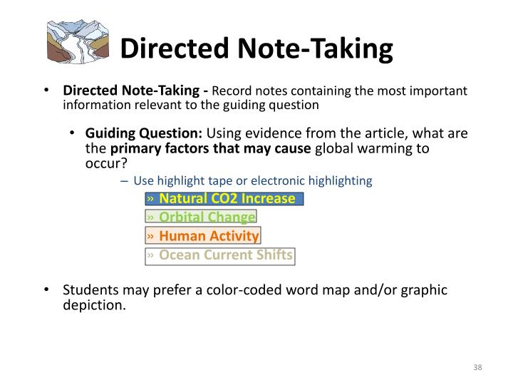 Directed Note-Taking