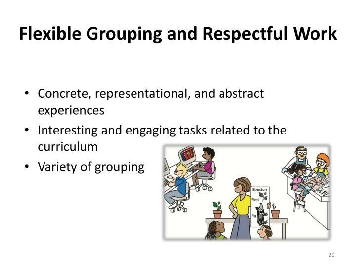 Flexible Grouping and Respectful Work