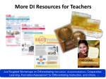 more di resources for teachers