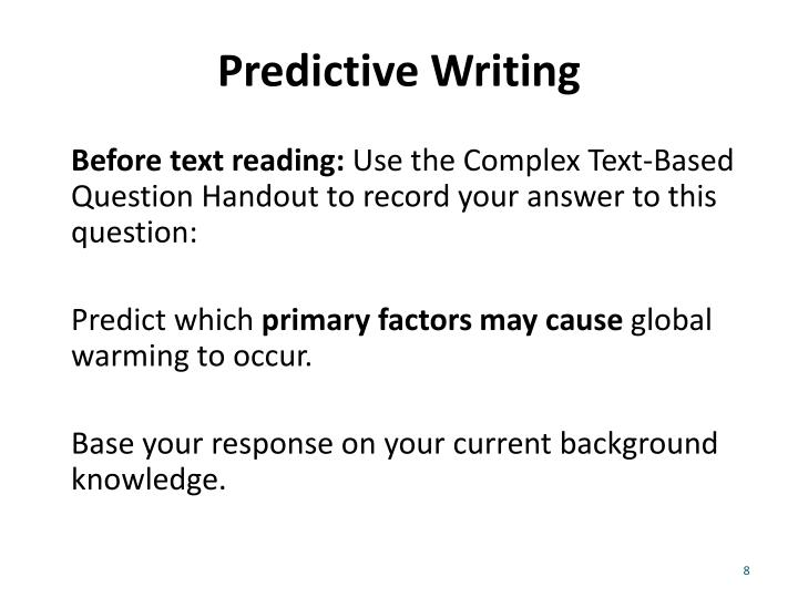 Predictive Writing