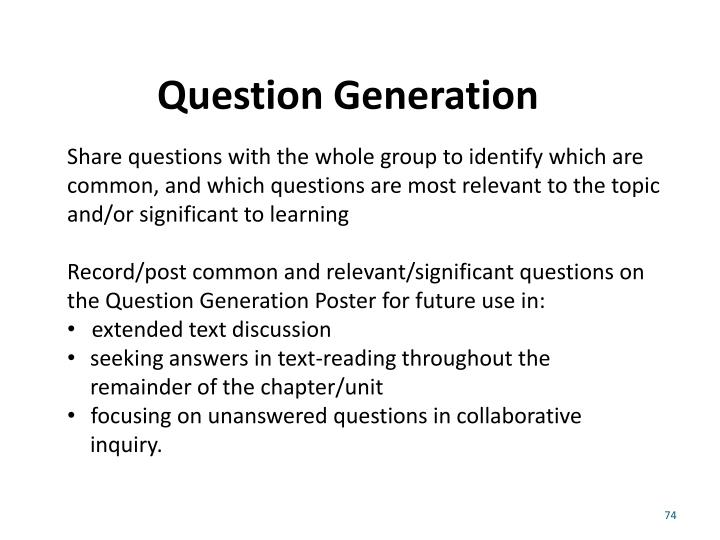 Question Generation