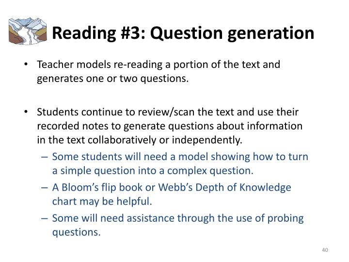 Reading #3: Question generation