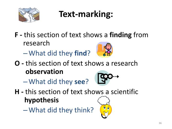 Text-marking: