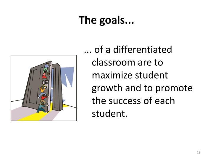 The goals...