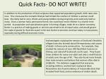 quick facts do not write1
