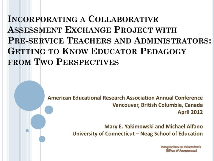 Incorporating a Collaborative Assessment Exchange Project with
