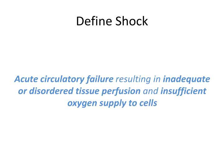 Define Shock