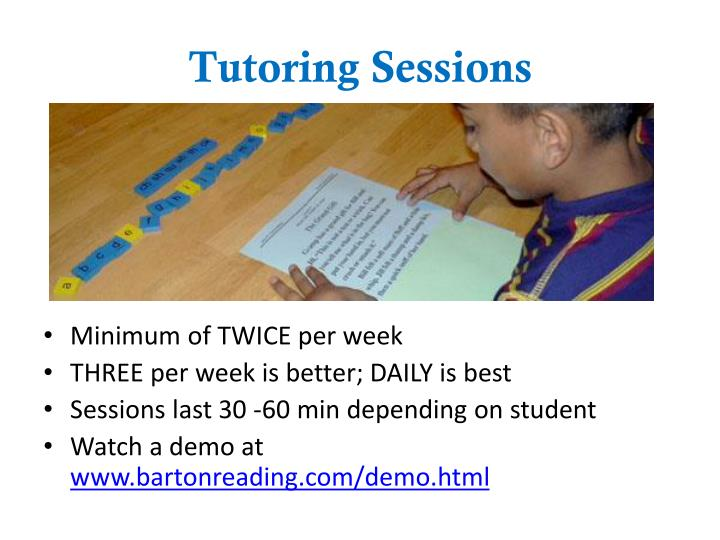 Tutoring Sessions