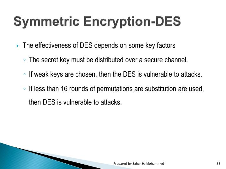 Symmetric Encryption-DES