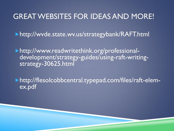 Great Websites for ideas and more!