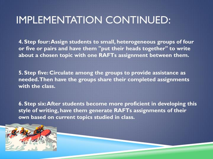 Implementation Continued: