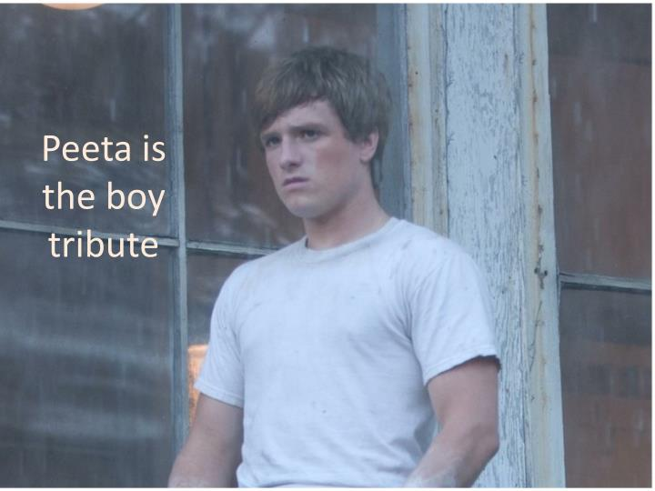 Peeta is the boy tribute
