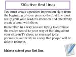 effective first lines1