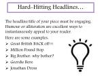 hard hitting headlines