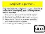 swap with a partner