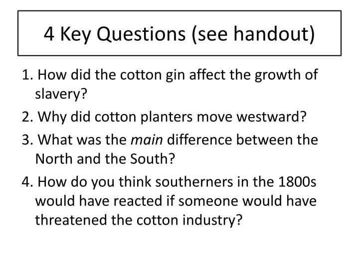 4 key questions see handout