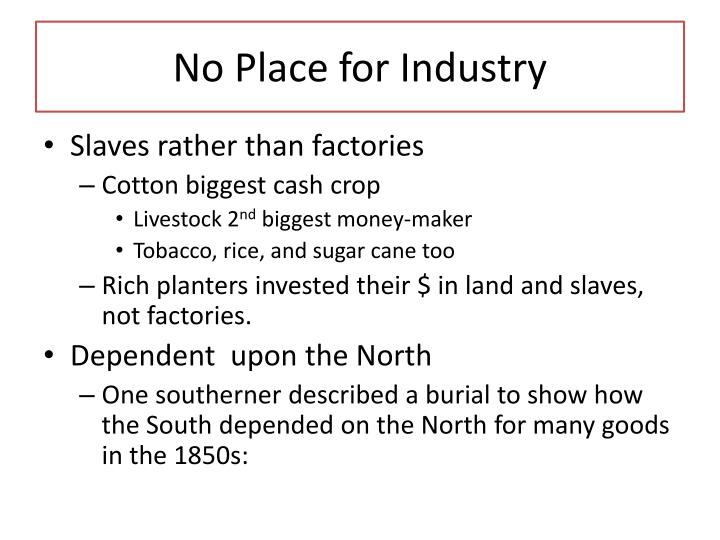 No Place for Industry