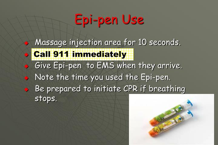 Epi-pen Use