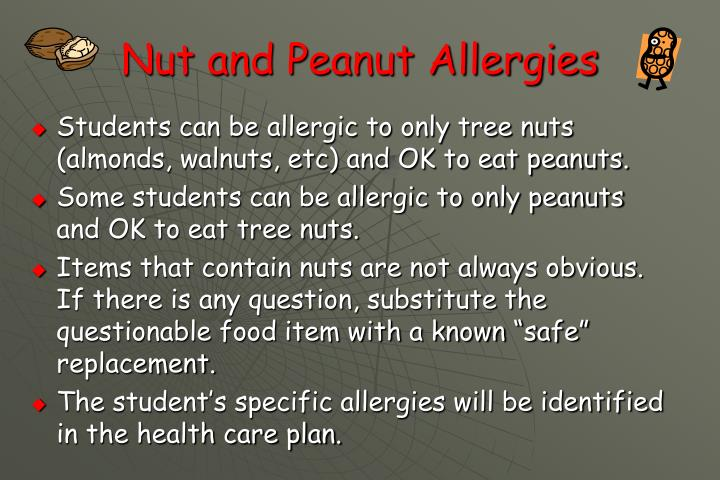 Nut and Peanut Allergies