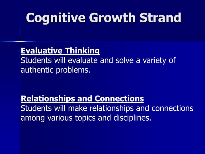 Cognitive Growth Strand