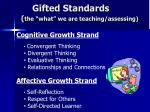 gifted standards the what we are teaching assessing