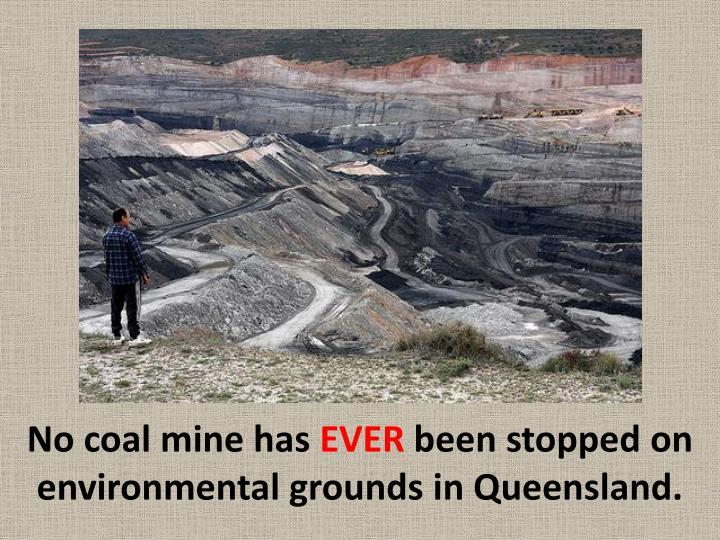 No coal mine has