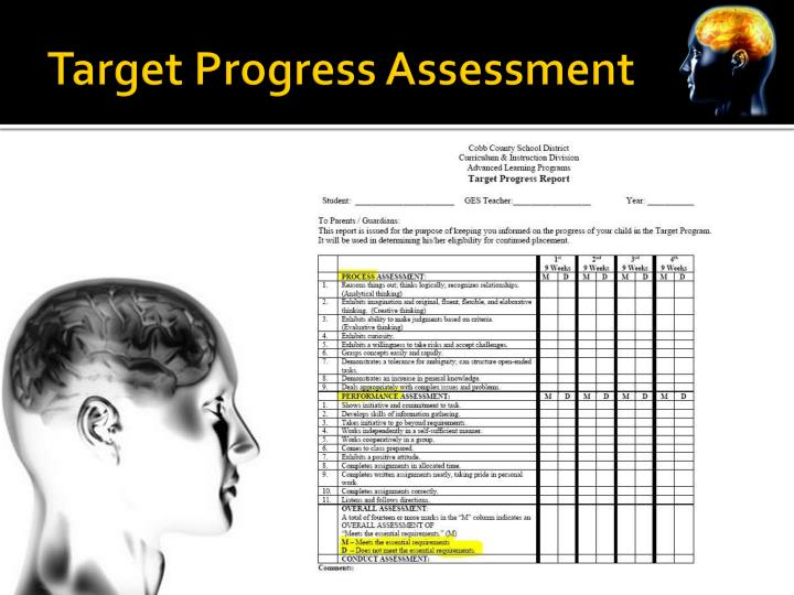 Target Progress Assessment