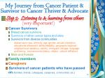 my journey from cancer patient survivor to cancer thriver advocate1