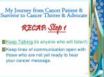 my journey from cancer patient survivor to cancer thriver advocate3