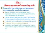 step 1 cont sharing my personal cancer story with