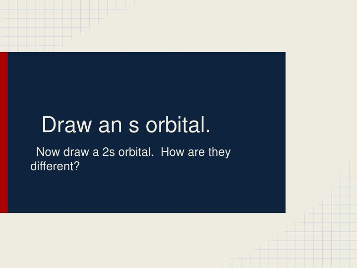 Draw an s orbital.