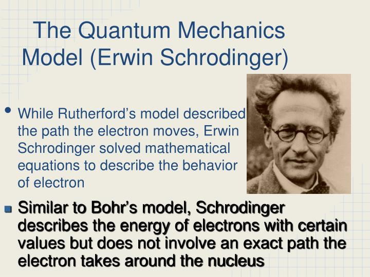 The Quantum Mechanics Model (Erwin Schrodinger)