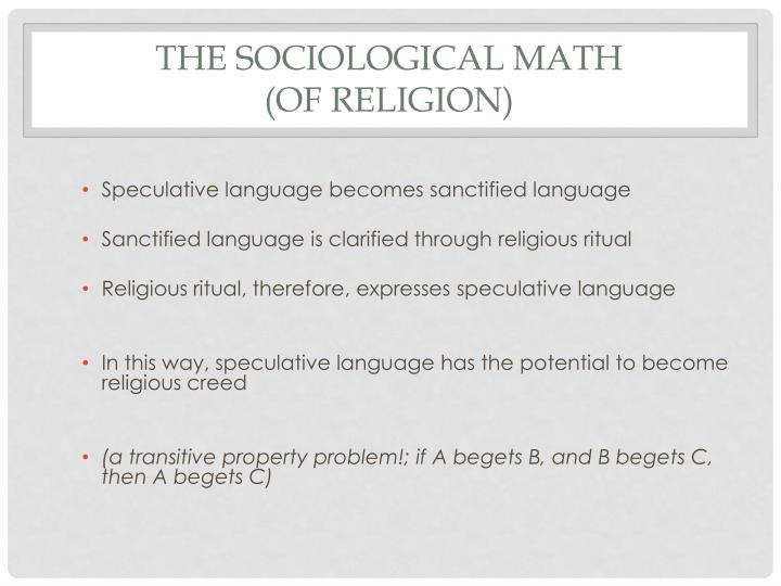 The Sociological math