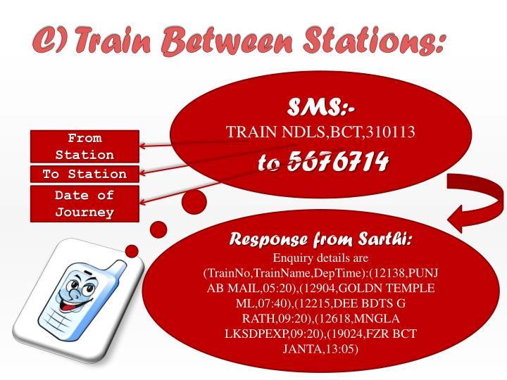 C) Train Between Stations: