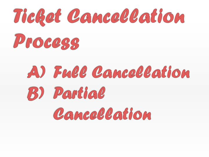 Ticket Cancellation Process