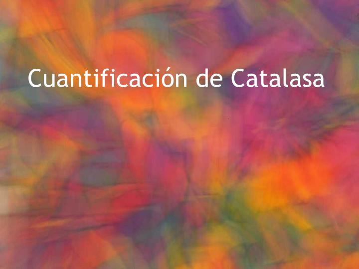 Cuantificación de Catalasa