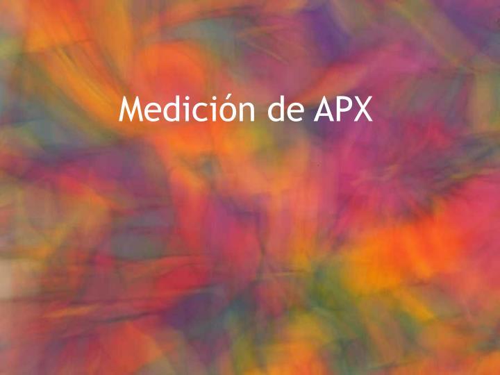 Medición de APX