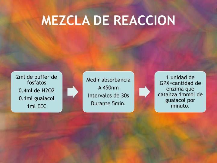 MEZCLA DE REACCION