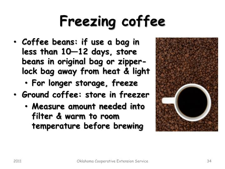 Freezing coffee