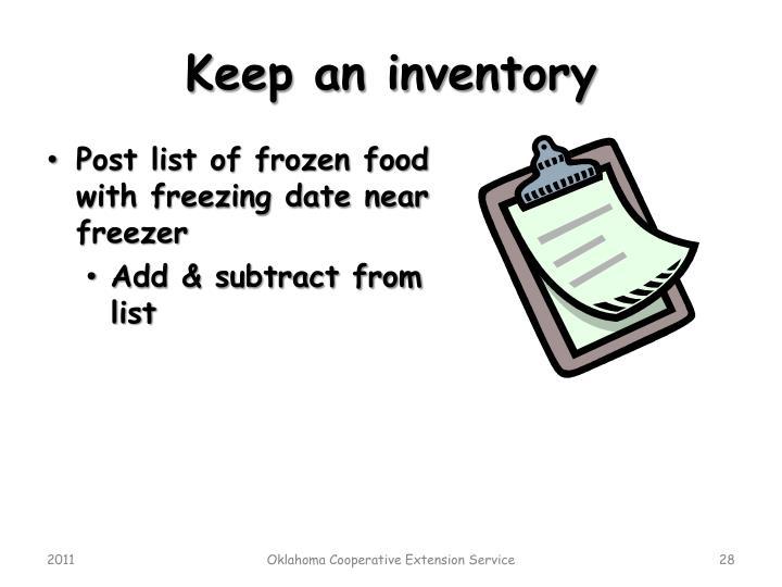 Keep an inventory