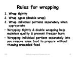 rules for wrapping
