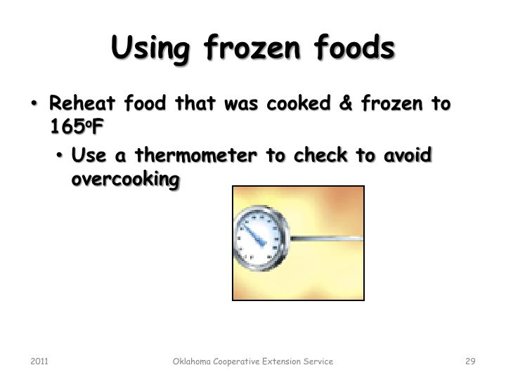Using frozen foods
