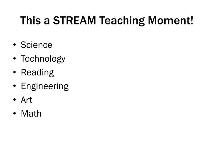 This a STREAM Teaching Moment!