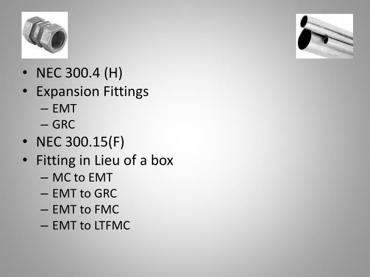 NEC 300.4 (H)