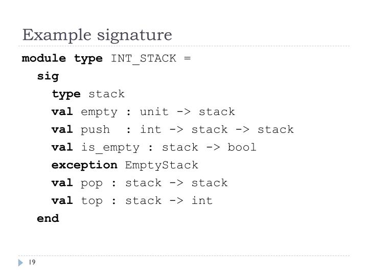 Example signature