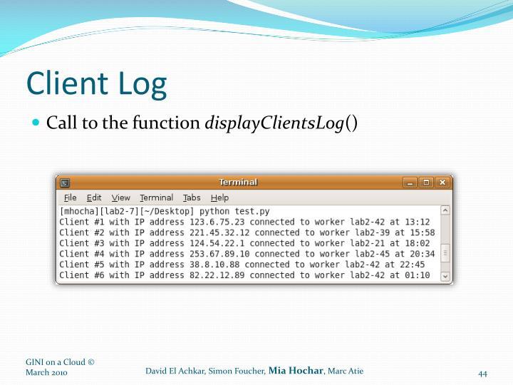 Client Log