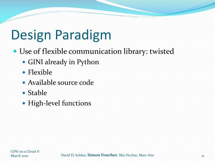 Design Paradigm