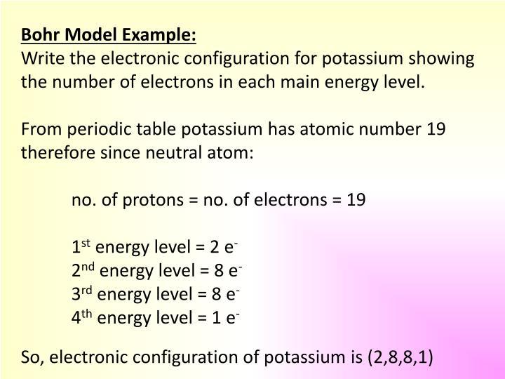 Bohr Model Example: