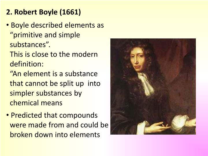 2. Robert Boyle (1661)